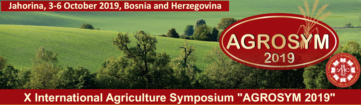 "X International Agriculture Symposium ""AGROSYM 2019"""
